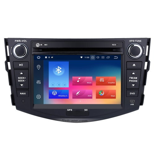 small resolution of android 9 0 aftermarket radio for 2006 2012 toyota rav4 with gps navigation hd 1024
