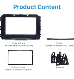 black double din car radio fascia for 2014 kia carnival sedona trim installation kit dvd frame  [ 1500 x 1500 Pixel ]