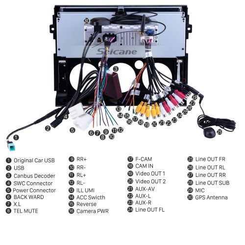 small resolution of  12 3 inch android 8 1 radio for 2007 2017 toyota cruiser fj with 3g fj cruiser cruiser wiring harness wiring diagram
