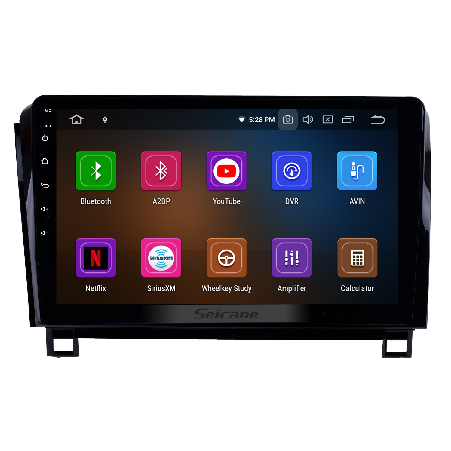 hight resolution of 10 1 inch android 9 0 2006 2014 toyota sequoia gps navigation radio ips full screen with music