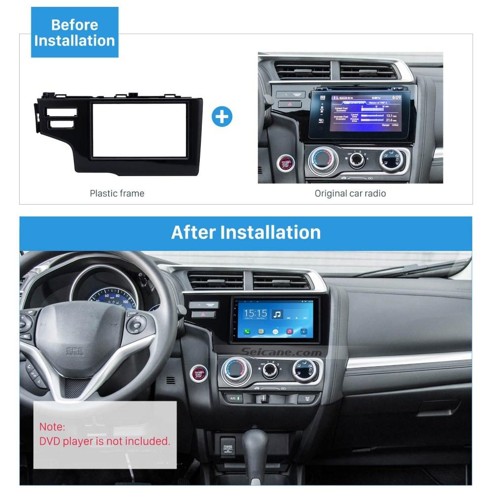medium resolution of nice 2din 2013 2014 2015 honda fit jazz lhd with srs hole car radio fascia panel