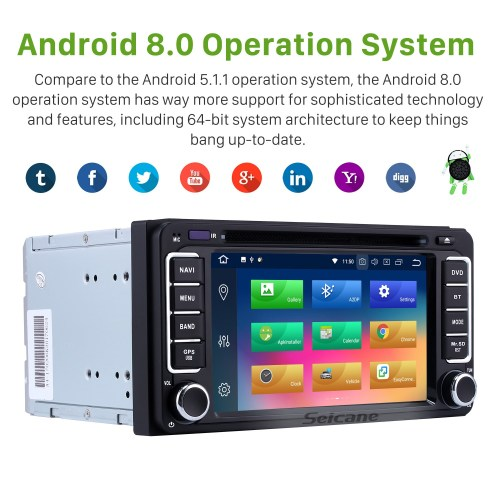 small resolution of  android 8 0 gps navigation system for 1996 2009 toyota prado with touch screen bluetooth music