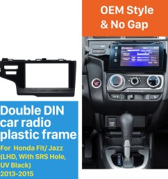 nice 2din 2013 2014 2015 honda fit jazz lhd with srs hole car radio fascia panel frame dash mount stereo install [ 1500 x 1500 Pixel ]