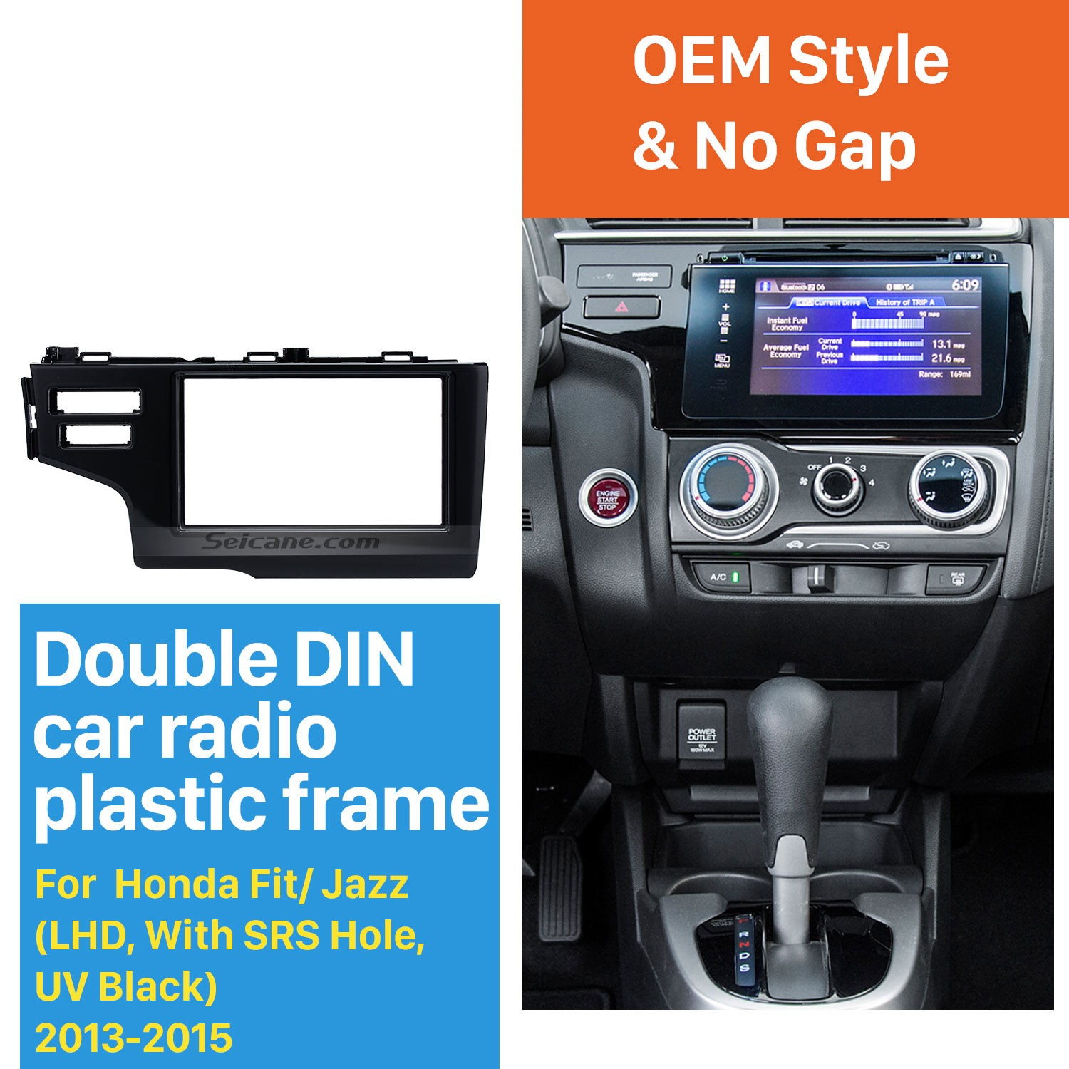 hight resolution of nice 2din 2013 2014 2015 honda fit jazz lhd with srs hole car radio fascia panel frame dash mount stereo install