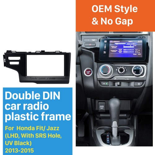 small resolution of nice 2din 2013 2014 2015 honda fit jazz lhd with srs hole car radio fascia panel frame dash mount stereo install
