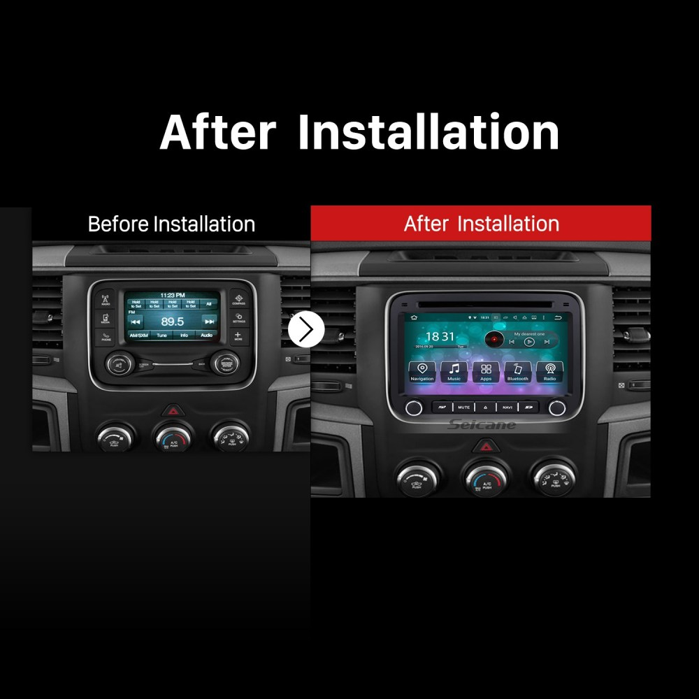 medium resolution of  android 9 0 7 inch hd touch screen dvd player for 2013 2015 dodge ram 1500