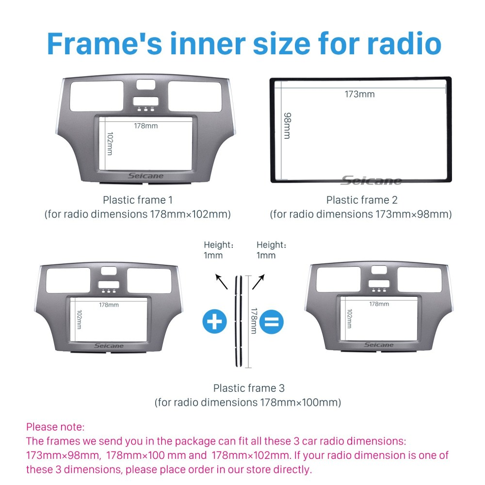medium resolution of grey double din 2008 toyota windom es300 car radio fascia stereo dash kit surround panel dvd frame