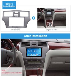 grey double din 2008 toyota windom es300 car radio fascia stereo dash kit surround panel dvd frame [ 1500 x 1500 Pixel ]