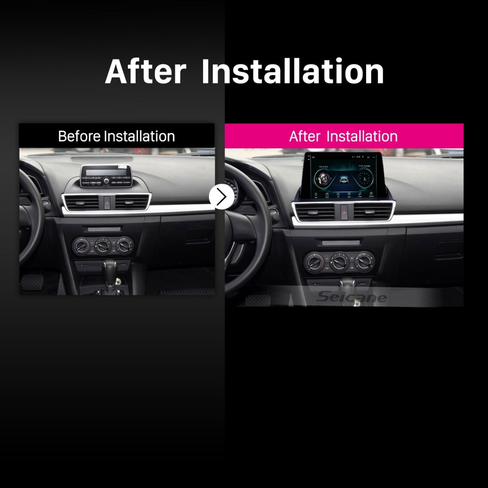 medium resolution of hd touchscreen 2014 2015 mazda 3 axela 9 inch android 8 1 gps navigation radio 3g wifi