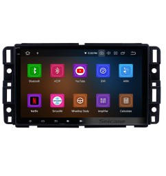 8 inch android 9 0 hd touchscreen radio head unit for 2009 2010 2011 chevrolet chevy traverse  [ 1500 x 1500 Pixel ]