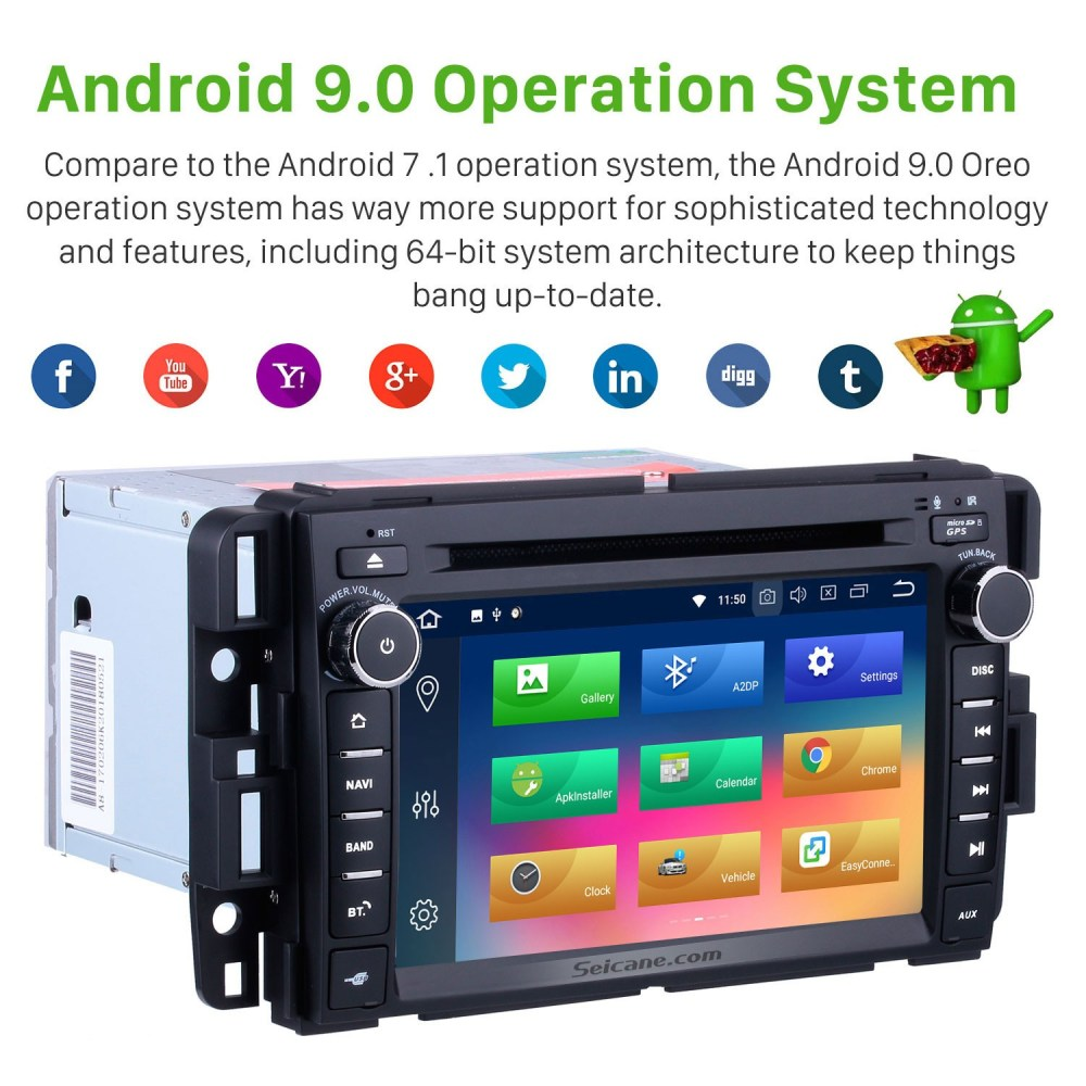 medium resolution of  oem 2007 2013 gmc yukon tahoe acadia chevy chevrolet tahoe suburban buick enclave android 9 0