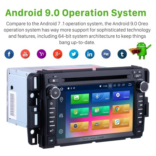 small resolution of  oem 2007 2013 gmc yukon tahoe acadia chevy chevrolet tahoe suburban buick enclave android 9 0