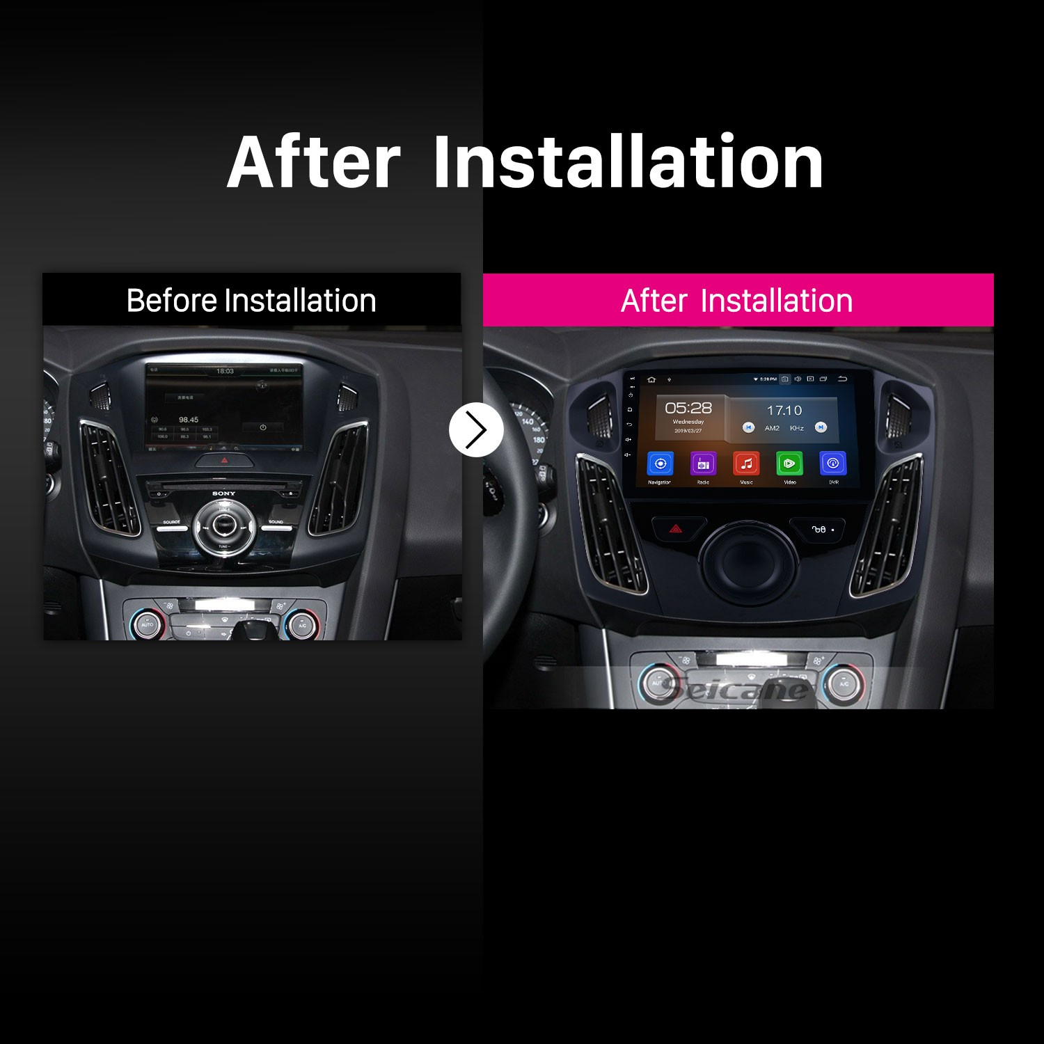 hight resolution of  wiring android 9 0 9 inch 2012 2015 ford focus hd touchscreen gps on ford sync