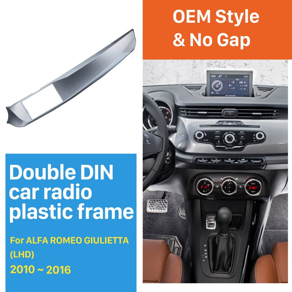 medium resolution of  double din car radio fascia for 2010 2016 alfa romeo giulietta left on alfa romeo