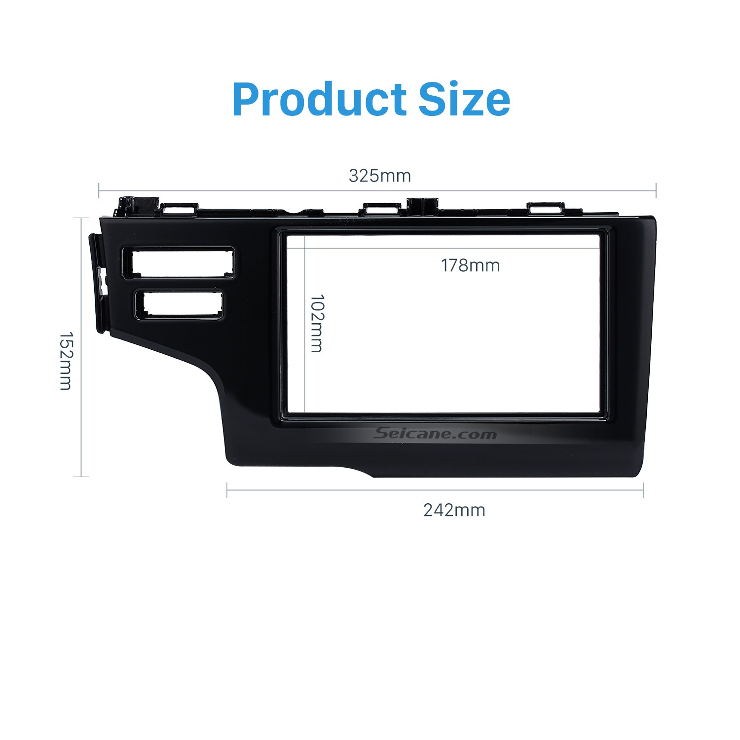 hight resolution of nice 2din 2013 2014 2015 honda fit jazz lhd with srs hole car radio fascia panel