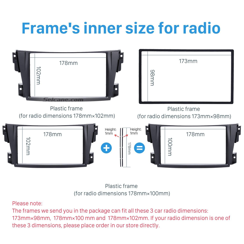 hight resolution of trendy double din 2002 2007 toyota caldina car radio fascia stereo dash cd trim panel frame installation kit