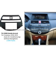 durable plastic double din 2008 honda accord car radio fascia stereo install dvd player in dash  [ 1500 x 1500 Pixel ]