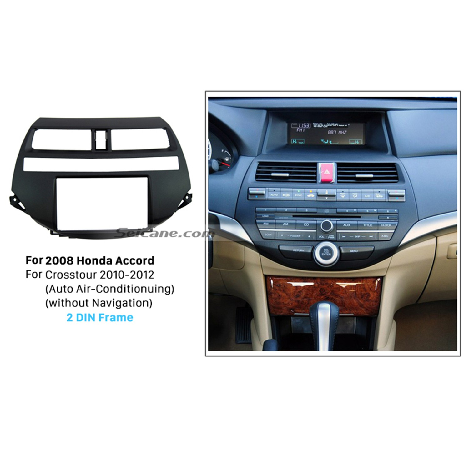 hight resolution of durable plastic double din 2008 honda accord car radio fascia stereo install dvd player in dash