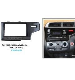 uv black 2din 2013 2014 2015 honda fit jazz rhd car radio fascia auto stereo adaptor dash mount dvd player frame [ 1500 x 1500 Pixel ]