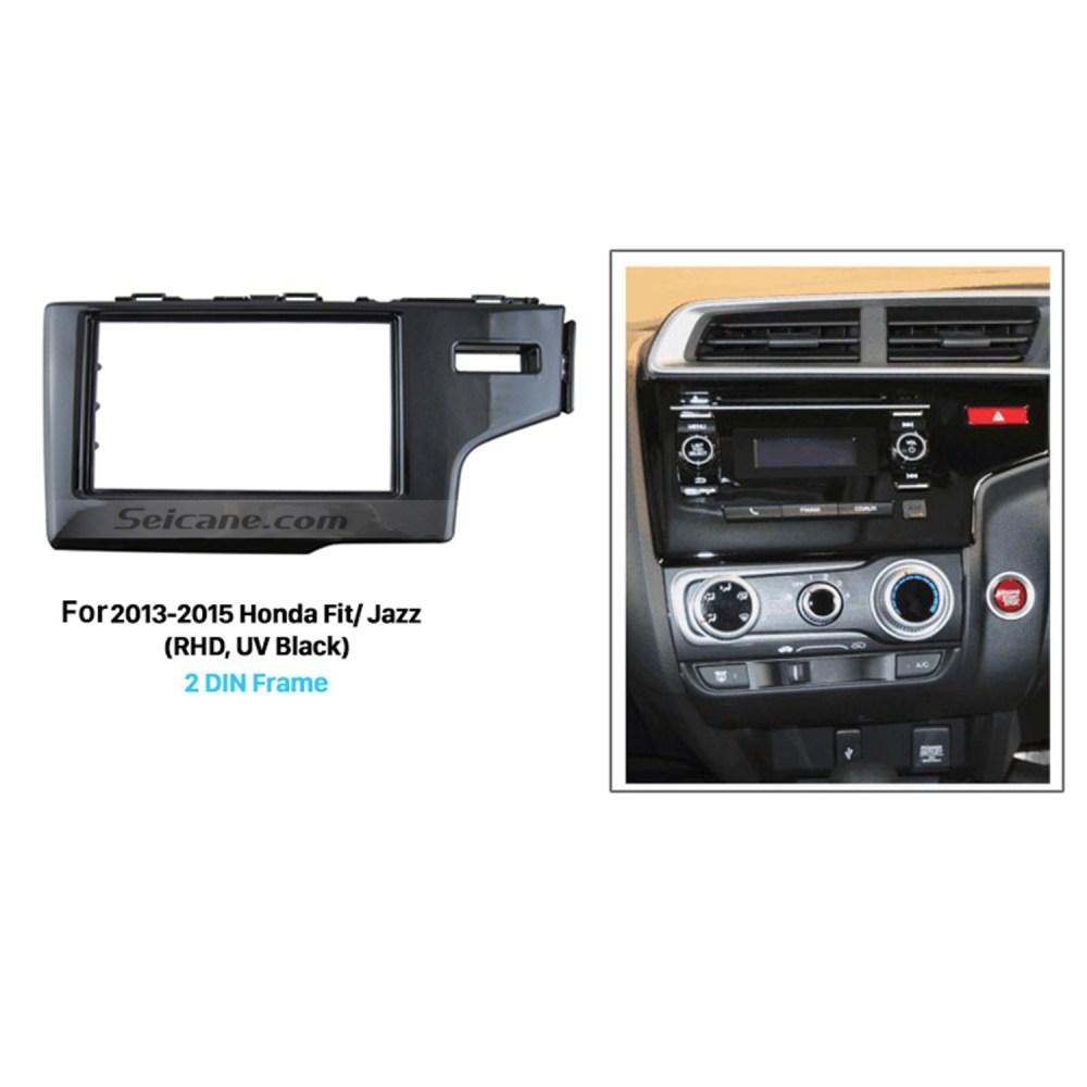 medium resolution of uv black 2din 2013 2014 2015 honda fit jazz rhd car radio fascia auto stereo adaptor dash mount dvd player frame