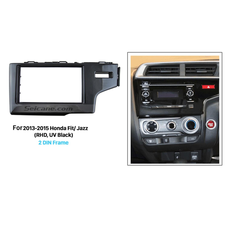 hight resolution of uv black 2din 2013 2014 2015 honda fit jazz rhd car radio fascia auto stereo adaptor dash mount dvd player frame