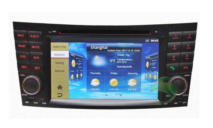 Mercedes benz gps navigation car stereo upgrade for Mercedes benz stereo upgrade