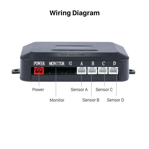 small resolution of car wireless automatically parking assistance sensor reverse backup alarm radar system with 4 rader sensors led display monitor