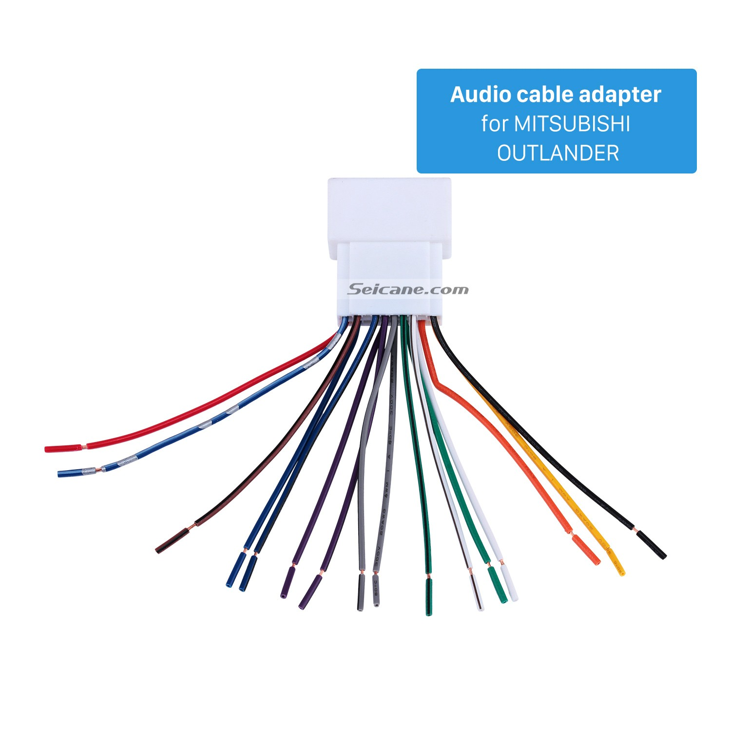 hight resolution of car stereo wiring harness plug adapter audio cable for mitsubishi outlander