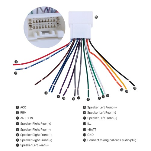 small resolution of universal car stereo wiring harness schema diagram database car stereo wiring harness plug adapter audio cable