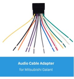 high quality audio cable wiring harness plug adapter for mitsubishi wiring diagram ecu mitsubishi galant high [ 1500 x 1500 Pixel ]