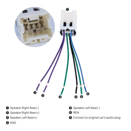 small resolution of audio cable wiring harness adapter for nissan bluebird paladin sunny cefiro fuga infiniti
