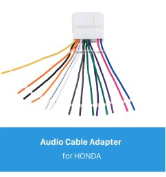 high quality wiring harness adapter audio plug cable for honda accord 2 4l odyssey fit city new  [ 1500 x 1500 Pixel ]