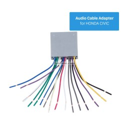 top wiring harness adapter audio cable and radio antenna cable for honda civic [ 1500 x 1500 Pixel ]