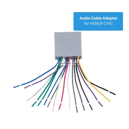 small resolution of top wiring harness adapter audio cable and radio antenna cable for honda civic