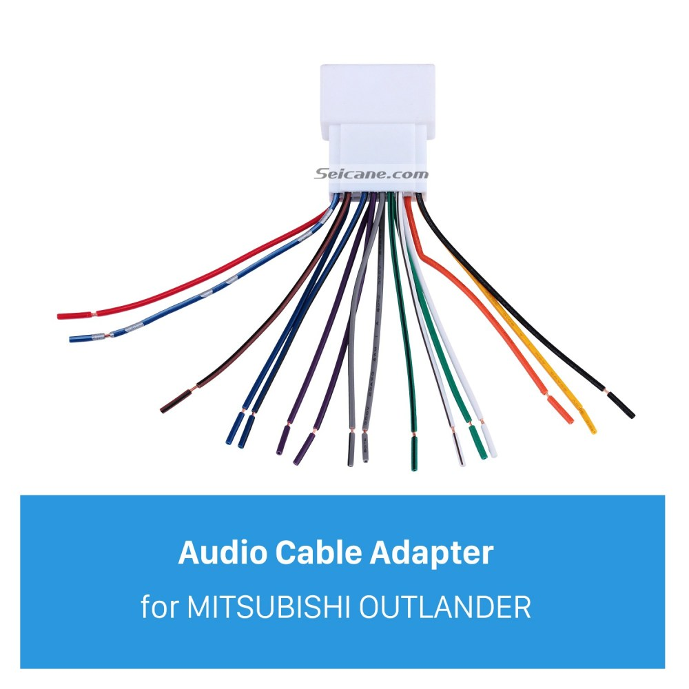 medium resolution of car stereo wiring harness plug adapter audio cable for mitsubishi outlander