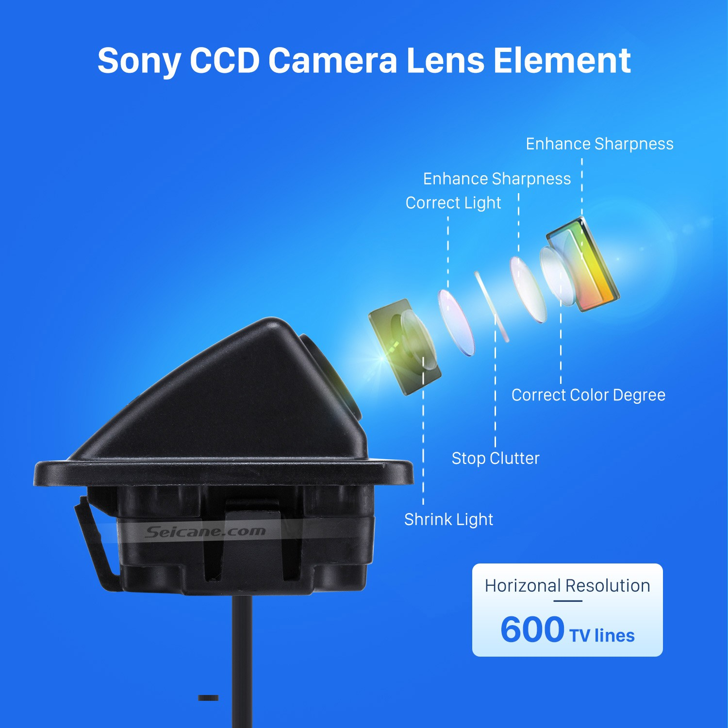 hight resolution of hd sony ccd 600 tv lines wired car parking backup reversing camera for kia k5 version