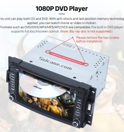 seicane pontiac montana sv6 dvd player gps navigation system with radio tv bluetooth  [ 980 x 943 Pixel ]