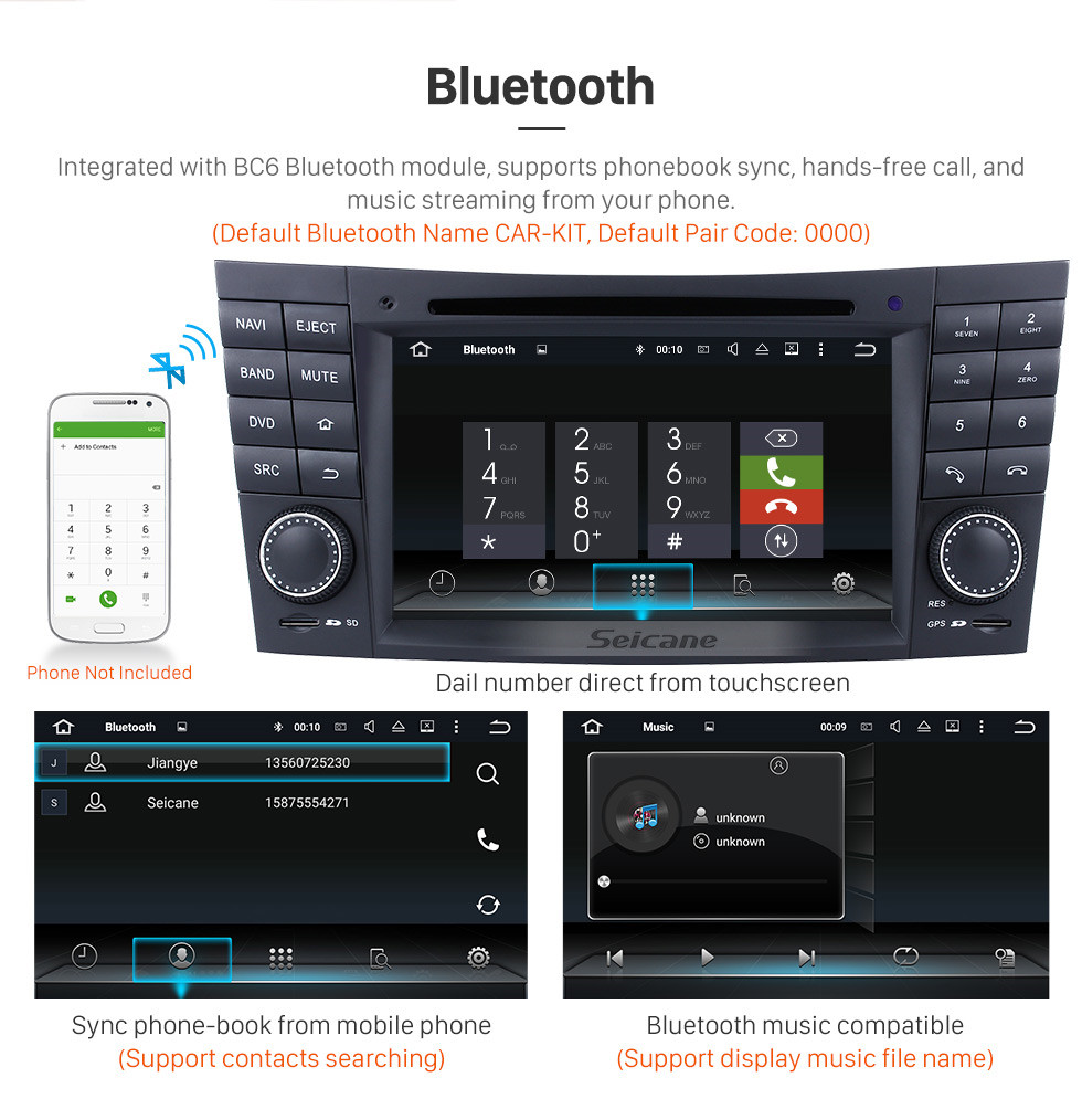 hight resolution of  seicane android 7 1 gps navigation system for 2001 2008 mercedes benz g class