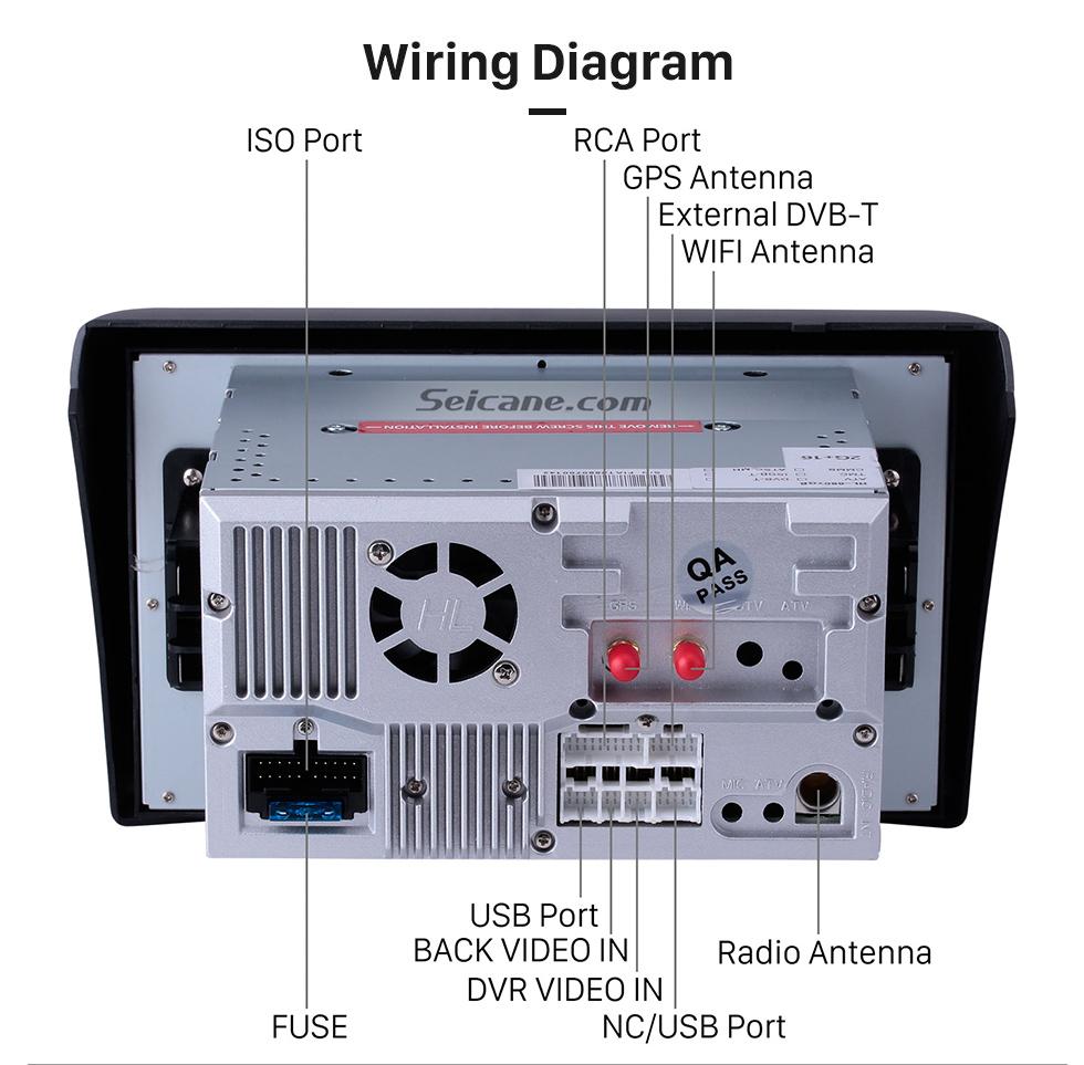 medium resolution of  seicane 8 inch android 8 0 aftermarket radio dvd player for 2005 2010 fiat stilo gps