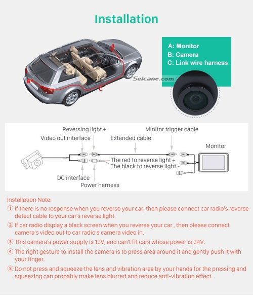 small resolution of  installation 170 hd waterproof blue ruler night vision car rear view camera for hyundai i30l