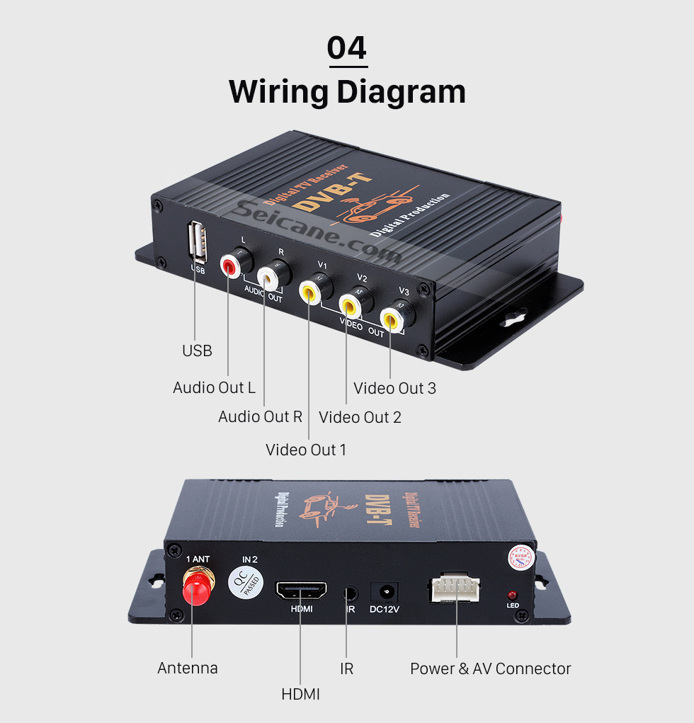 hight resolution of  seicane digital tv tuner dvb t for seicane car dvd player
