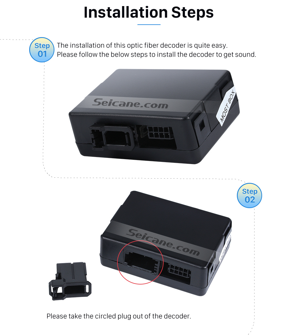 medium resolution of  seicane 2003 2012 porsche cayenne car optical fiber decoder most box bose harmon kardon digital