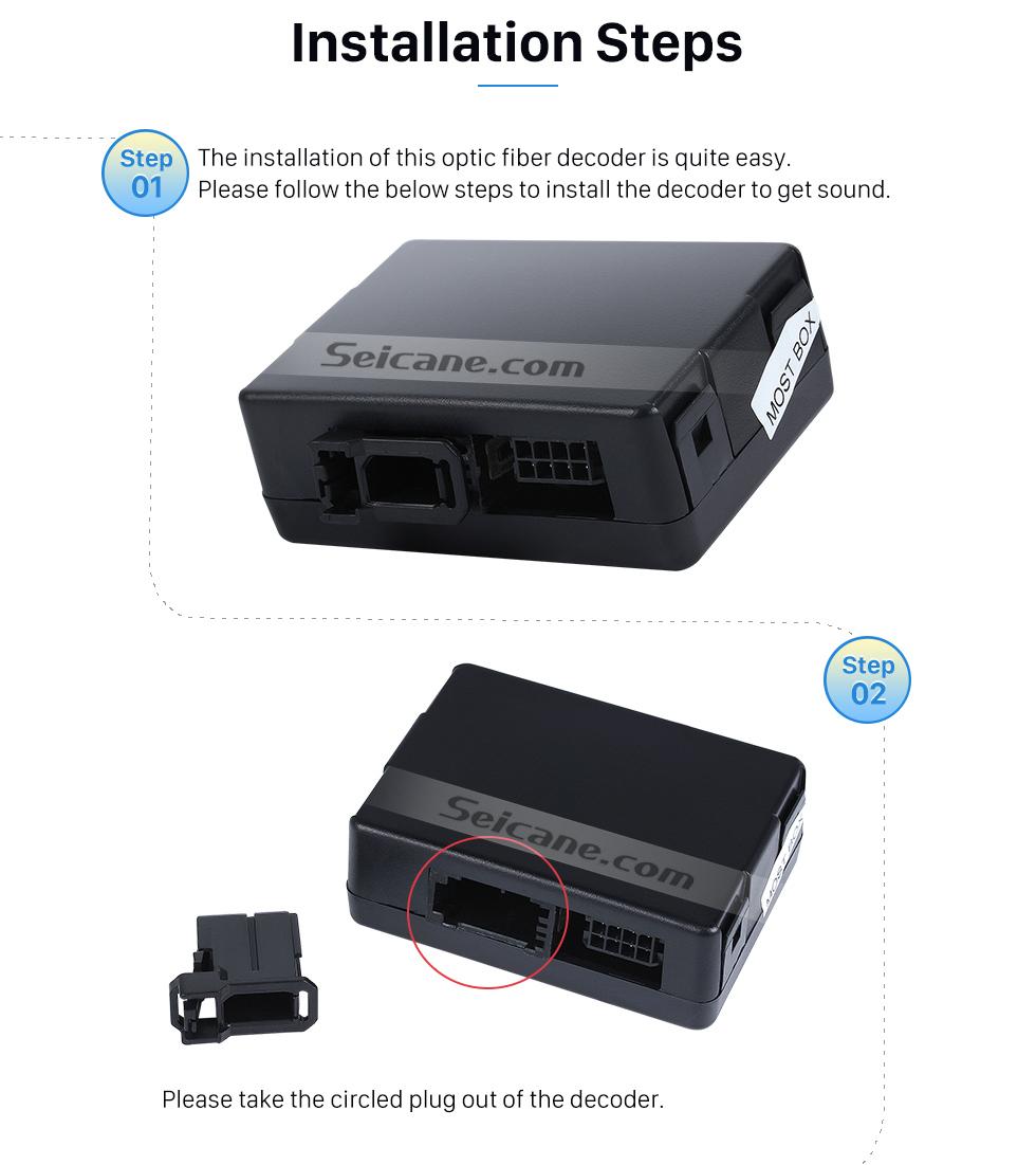 hight resolution of  seicane 2003 2012 porsche cayenne car optical fiber decoder most box bose harmon kardon digital