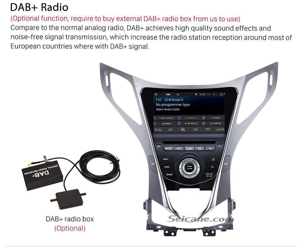 medium resolution of  seicane 8 inch 2011 2014 hyundai grandeur hg aftermarket android 5 1 radio gps navigation system