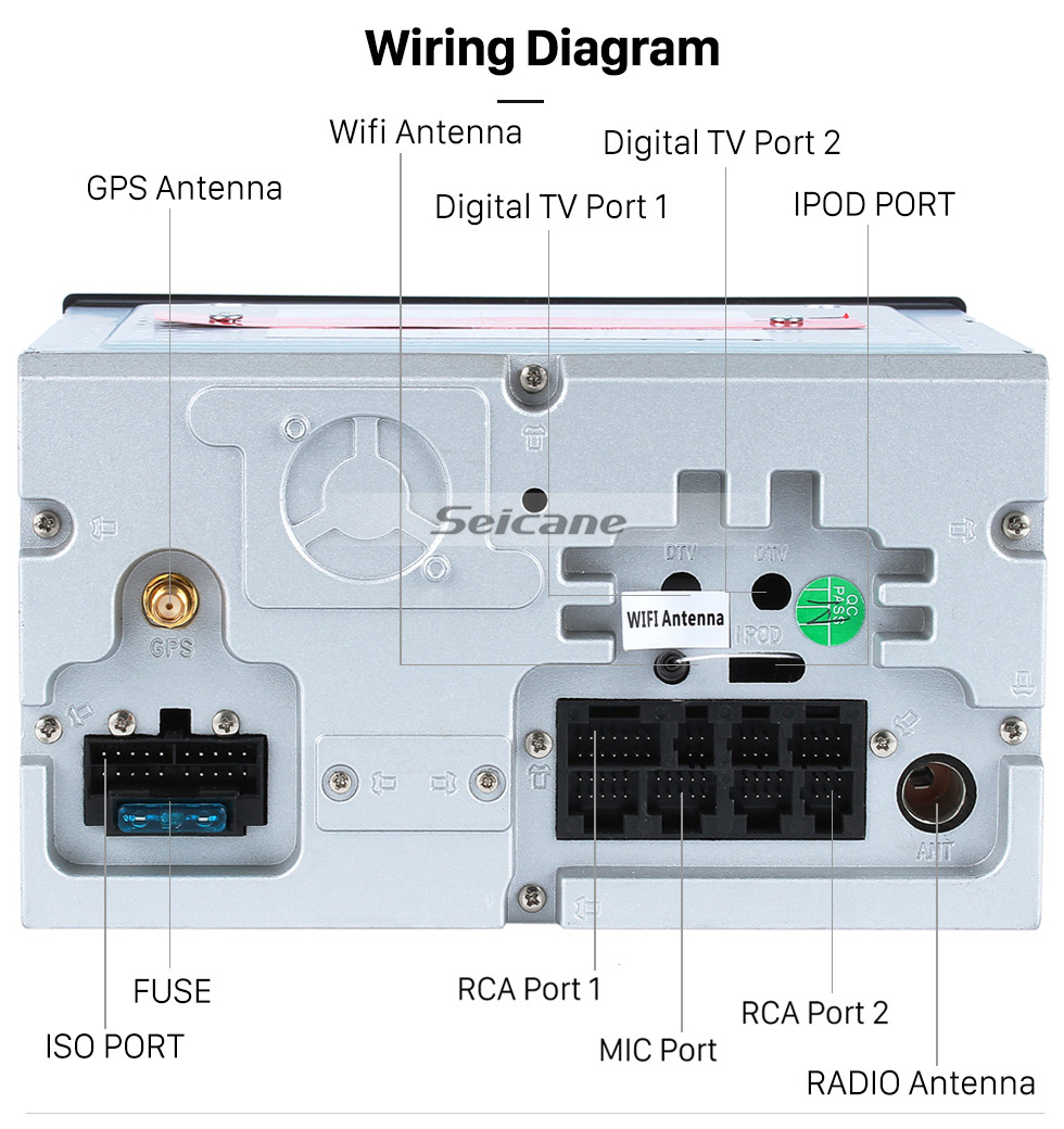 hight resolution of  seicane android 8 0 sistema de navegaci n gps por radio para 2007 2010 nissan qashqai con
