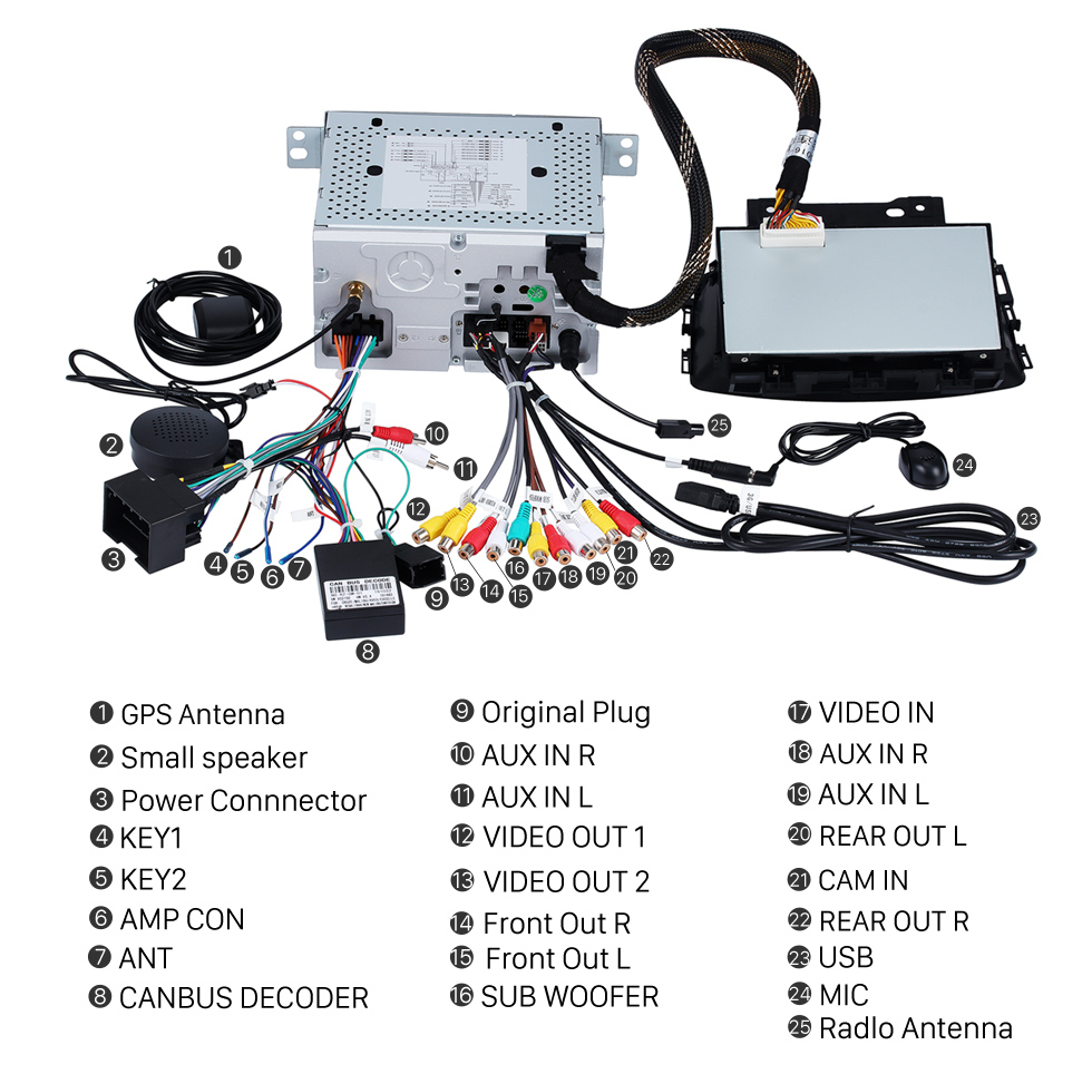 medium resolution of  seicane oem android 8 0 radio dvd player gps navigation system for 2010 2013 opel astra
