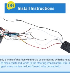 install instructions universal multifunctional wireless steering wheel controller for car dvd player gps navigation system  [ 980 x 835 Pixel ]