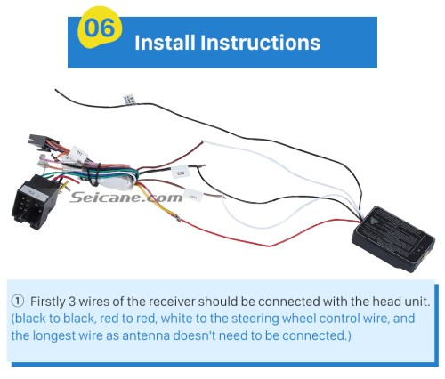 small resolution of  install instructions universal multifunctional wireless steering wheel controller for car dvd player gps navigation system