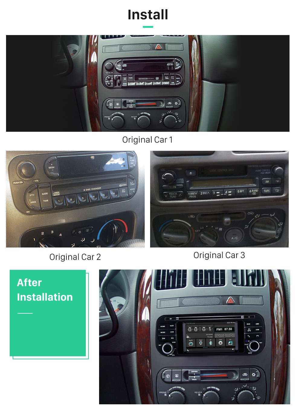 hight resolution of  seicane 2002 2007 jeep grand cherokee liberty patriot wrangler dvd player radio gps navigation system