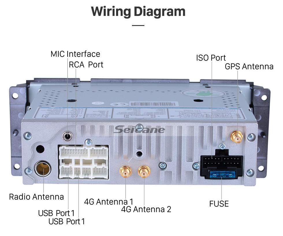 medium resolution of  seicane android 8 1 hd touchscrenn car radio head unit for 2001 2007 chrysler 300m pt
